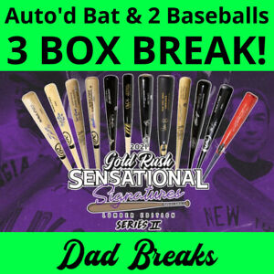 CHICAGO WHITE SOX 2021 Gold Rush Signed Bat + 2 TriStar Baseballs: 3 BOX BREAK
