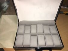 Cas De` Lux Luxury Watch Box with glass lid and Lock,  12 Slots, New,