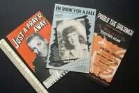 Vintage 1940s Home Front Sheet Music x 3. Bing Crosby, Dinah Shore, Irene Dunne.