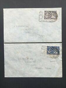 NYASALAND 1938 2d & 3d COVERS TO TAMPA FLORIDA Ex. NYASALAND PHARMACIES
