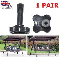 More details for canopy fixing screw bolt full plastic m12 screws for garden swing - one pair uk