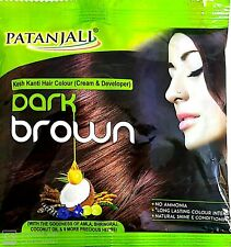 Patanjali K.K.Color Hair Colour Cream and Developer Dark Brown (Pack of 2) 40gm