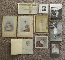 SET OF 10 PHOTOS - PORTRAITS, CHILDREN FROM AROUND 1910?