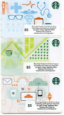 COMPLETE SET  3 STARBUCKS CORPORATE TECHNOLOGY HEALTH FINANCIAL  NOT IN  STORES