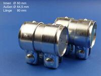 Reparaturschelle Verbindungsschelle 60x80mm Auspuffrohr 2 St