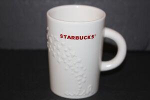 Starbucks Coffee Mug Holiday Wish White Red 3D Cup Christmas 10 oz Tea Cup 2010