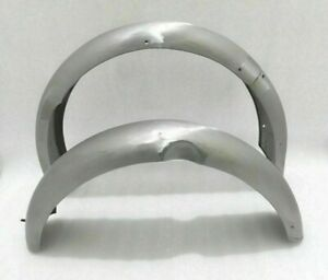 BRAND NEW  NORTON MODEL 18 FRONT AND REAR MUDGUARD SET RAW STEEL