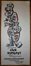 Jean Dubuffet Affiche Lithographie Art Abstrait Art Brut New York abstraction
