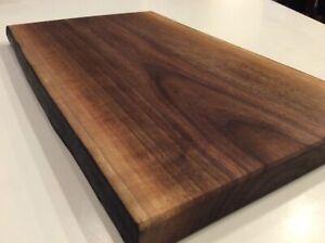 black walnut cutting board all natural organic coconut oil finish!