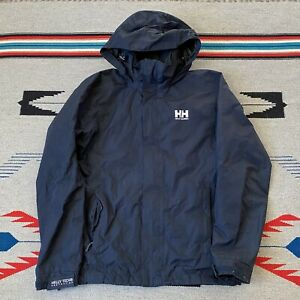 Helly Hansen Helly Tech Hooded Rain Jacket Mens Size Medium solid black