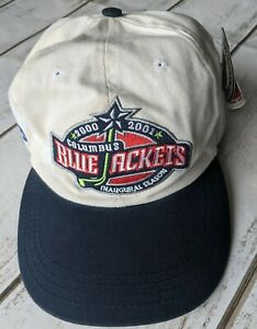 Columbus Blue Jackets hat cap 2000-01 Pepsi Inaugural New NHL American Needle