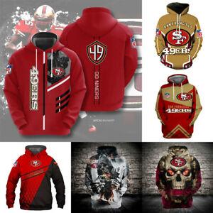 San Francisco 49ers Football Hoodie Men's Sweatshirt Hooded Pullover Jacket Coat