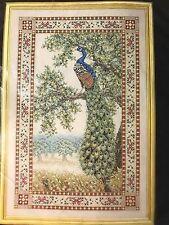 Teresa Wentzler Beaded Peacock Tapestry Cross Stitch Kit Fabric Floss Beads New