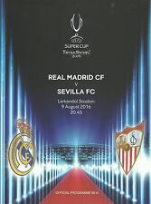 REAL MADRID V Sevilla-SUPERCOPPA UEFA FINALE - 09 AGOSTO 2016-in Stock Ora.