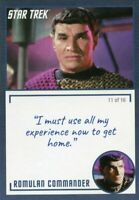 Star Trek TOS Archives & Inscriptions card #19 Romulan Commander  Var 11 of 16