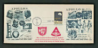#1371 Apollo 8  1969 Orbit Dual Cachet #10 Oversize First Day Cover Houston TX