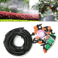 15m Hose Garden Self Plant Watering Connector Micro Drip Irrigation System Kit