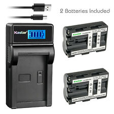 Kastar 2 Battery + Charger For Sony NP-FM500H A850 A900 A550 A500 A700 A450 A560