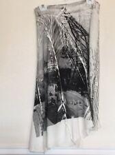 Skirt Size 8 Isabel De Pedro NWT $300 Ivory Linen Cotton