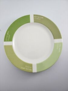 "Fishs Eddy Pantone Universe 9"" Green Dinner Plates Paint"