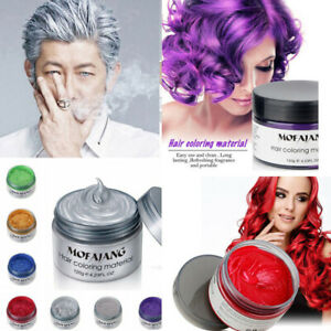 Mofajang HAIR WAX Color Styling Cream Mud NATURAL Hairstyle Dye Pomade WASHABLE
