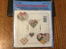 Double Switch plate counted cross stitch kit includes doubles switch plate  NIP