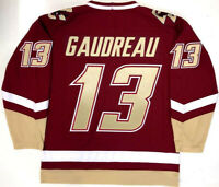 Vintage Johnny Gaudreau #13 Hockey Jerseys Red White All Stitched Custom Names