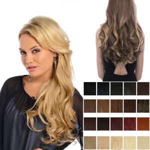 """Koko clip in hair extensions one piece 20"""" curly weft  hairpiece Various colours"""