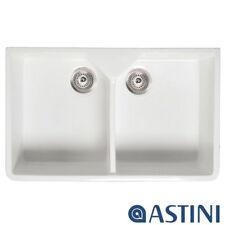Astini Belfast 800 2.0 Bowl White Ceramic Kitchen Sink & Waste
