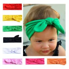 Baby Cotton Elastic Headband Boutique knotted Hair Band For Girls Toddler Infant