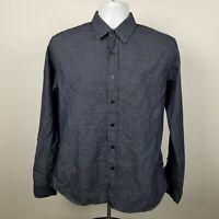UNTUCKit Slim Fit Mens Dark Blue Dress Button Shirt Size Medium M