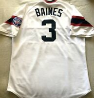 Harold Baines 1985 Chicago White Sox authentic Majestic stitched white XL jersey