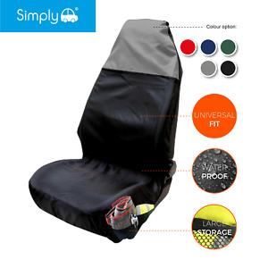 Heavy Duty Sports Black/Grey Single Seat Cover Protector Universal Waterproof