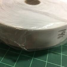 "Flat Binding Tape Heavy Poly-Cotton Straight Cut Large Roll 2"" White #BT35"