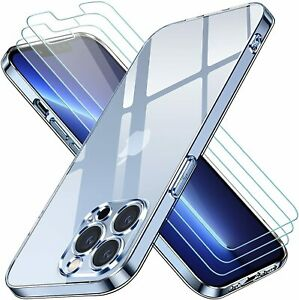 For Apple iPhone 13 Mini/Pro/Max Case Clear Gel Cover & Glass Screen Protector