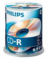 Philips CD-R 80 Mins 700MB 52X Speed Recordable Blank Discs - 100 Pack Spindle