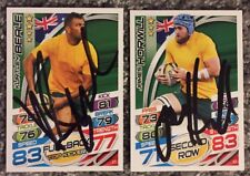 Signed James Horwill and Kurtley Beale Australia Rugby Attax 2015 Cards