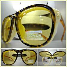 Mens Women CLASSIC VINTAGE RETRO DESIGNER Style SUN GLASSES Unique Flip Up Frame