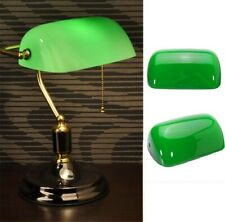 "Vintage Green Desk Banker Lamp Shade Cover Cased Replacement Lampshade 9"" X 5"" ♫"