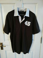 GEORGE MENS 45 BROWN WHITE COTTON POLO SHIRT SIZE SMALL SHORT SLEEVE COLLARED