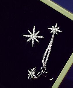 Pair New Fashion Elegant Vintage Star Crystal Rhinestone Ear Cuff Wrap Earring