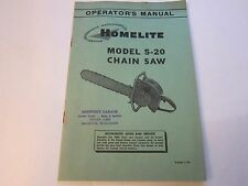 NEW OLD STOCK 1955 Homelite Chainsaw 5-20 Operator's Manual LOTS More Listed LG5