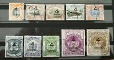 North Borneo 1899  4c O/P  selection to $10  Kudat Canc