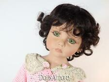 "DARK BROWN DOLL WIG  SIZE 8/9"" FITS VINTAGE AND MODERN DOLLS"