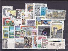 ITALIA REPUBBLICA 1989 ANNATA COMPLETA 33 VALORI NUOVI