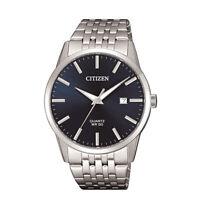 Citizen Men's Quartz Blue Dial Calendar Date Silver-Tone 39mm Watch BI5000-87L