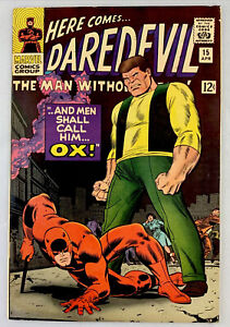 Daredevil #15 VF/NM 9.0 OWPages , death of OX