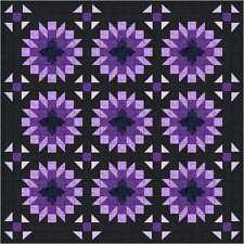 Quilt Kit/Amethyst Radiant Stars Beautiful!! Pre-cut Fabrics Ready To Sew