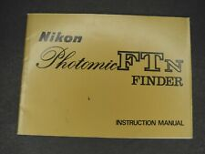 Nikon Photomic FTN Finder 1970 Instruction Book / User Manual / Guide