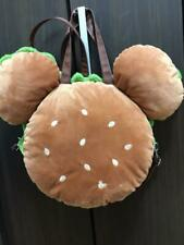 Tokyo Disney Resort Mickey Mouse Hamburger Plush Tote Bag Backpack F/S Japan